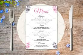 wedding menu cards wedding menu card template stationery templates creative market