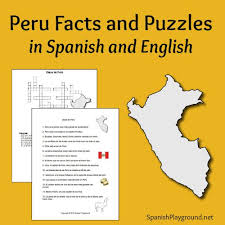 peru facts and puzzles in spanish and english spanish playground