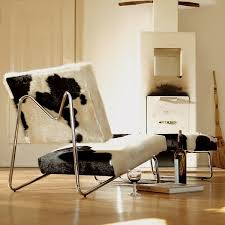 Modern Lounge Chair Design Ideas Simple And Modern Lounge Chair Upholstered By Cowhide Hirche