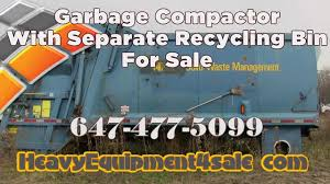 garbage compactor with separate recycling unit for sale toronto