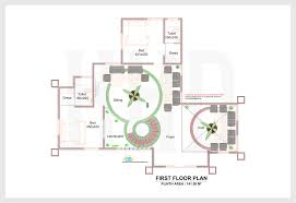 Easton Neston Floor Plan 2d Elevation And Plan Of 4bhk Luxury House 4198 Sq Ft Home