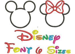 instant download disney letters mickey mouse minnie mouse
