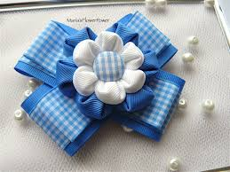 blue gingham ribbon school gingham ribbon hair clip bow pin slide buy