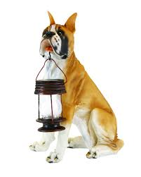 boxer dog statue boxer dog statue with solar power light