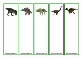 dinosaur bookmarks blanks