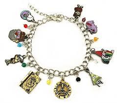 themed charm bracelet gravity falls themed charms silvertone metal enamel