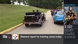 roll royce steelers just antonio brown arriving in a classic 1930s rolls royce nfl