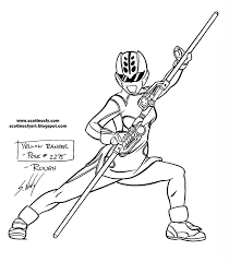 attractive power rangers jungle fury coloring pages 14