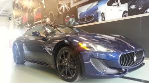 navy blue maserati maserati video walkaround blu oceano cuoio gt sport coupe youtube