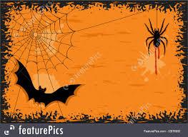 halloween border halloween halloween night with bat and spider stock