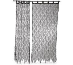 amazon com spider designed wall curtain black lace halloween