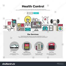 Homepage Design Concepts One Page Web Design Template Thin Stock Vector 350726324