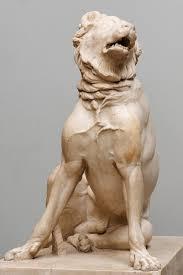 guard dog statue dog