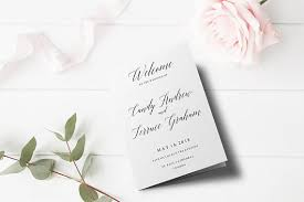 folded wedding program template wedding program template folded wedding program printable