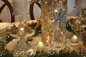 Christmas Table Decorations Blue And White by Decoration Gold And White Christmas Table Decorations With Gold