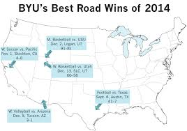 Byu Map Byu Athletics The World Is Our Playing Field The Daily Universe