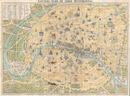 Map O Street Maps Of Paris France Map Of Paris France W Monuments