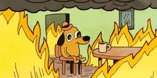 Me Me Me Male Version - k c green s this is fine dog is no longer fine still on fire