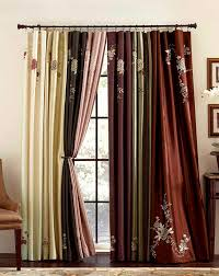 Top And Bottom Rod Curtains Asia Faux Silk Shimmer Floral Embroidered Panel Curtainworks Com