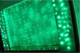 Curtain Christmas Lights Indoors Bright Green Led String Curtain Christmas Lights 3 X 1 7m 108 Leds