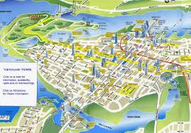Canada City Map by Vancouver Map