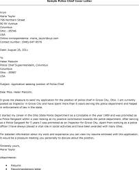 sample recommendation letter template chief of police cover