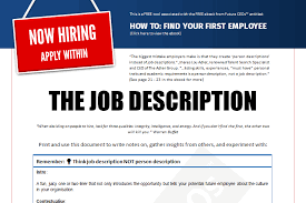 job description employment tool future ceos