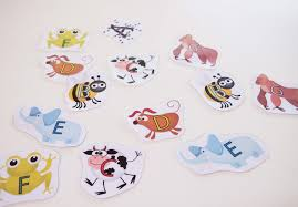 introducing the musical alphabet with animals colourful keys