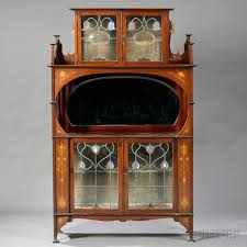 Curio Cabinets Pronunciation Art Nouveau Cabinet In The Manner Of Shapland U0026 Petter Mahogany