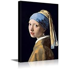 vermeer earring girl with a pearl earring print poster