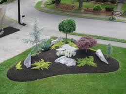 simple landscape designs with rock beds this is similar to what i