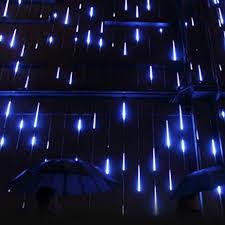 outdoor string lights rain agptek waterproof led 8 tube blue color holiday meteor shower rain
