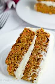 gluten free carrot cake with orange cream cheese frosting zest