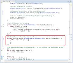 android onclick using broadcast intent in datacapture profiles zebra