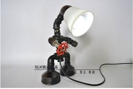 Steel Pipe Desk Aliexpress Com Buy E27 Edison Bulb Pipe Lamp Vintage Industrial