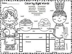 free thanksgiving write and read worksheet for the sight word