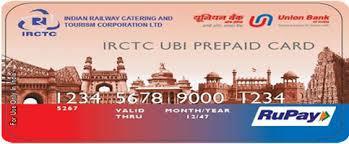 bank prepaid cards irctc union bank prepaid card
