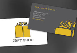 business card template for gift shop retail store order custom