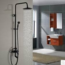Tub Faucet Height Wall Mount Brass Rainfall Bath Shower Mixer Set One Handle Adjust