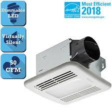 bathroom exhaust fan 50 cfm delta breez integrity series 50 cfm ceiling bathroom exhaust fan