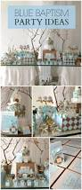 Centerpieces For Baptism For A Boy by Vintage Gold Baptism