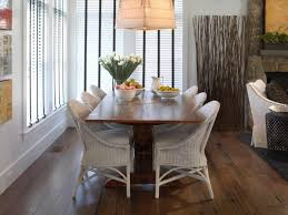furniture dining room design ideas with wicker chairs regard to