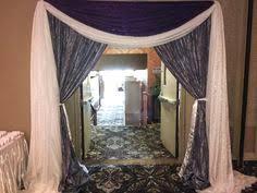 wedding entrance backdrop grand bling wedding lachefs lachefsdecor decor purple
