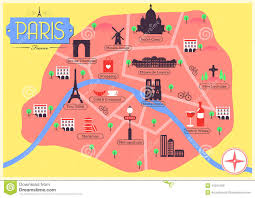 Map France by Vector Map Of Paris France Stock Vector Image 43234496