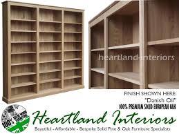 solid oak bookcase 7ft x 8ft 10