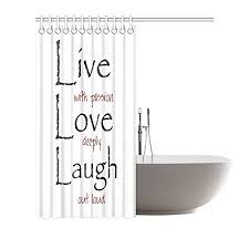 Shower Curtains With Quotes Live Laugh Love Quotes Shower Curtain Buy Live Laugh Love Quotes