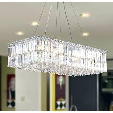 Rectangle Chandeliers Chandelier Deco Modern Style Light Chrome Finish Clear