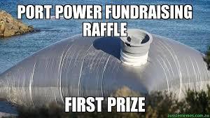 Power Meme - port power fundraising raffle first prize custom meme aussie