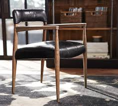 henry leather desk chair pottery barn