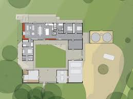 courtyard home plans modern house plans plan with courtyard 2 master suites tiny loft